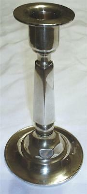 VINTAGE 60's ESTATE HEAVY SOLID CAST BRASS CANDLE HOLDER-PERFECT FOR THE MANTEL!