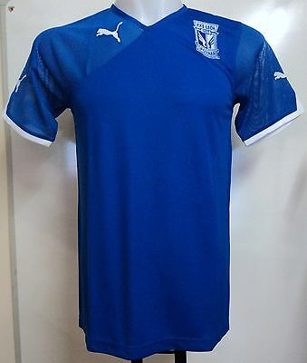 Lech Poznan Blue Short Sleeve Jersey By Puma Adults Size Xl Brand New With Tags