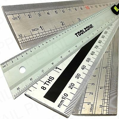 "1 METRE RULER RANGE 100cm 1M One 40"" Long Large Metal Measure School/Carpenter"