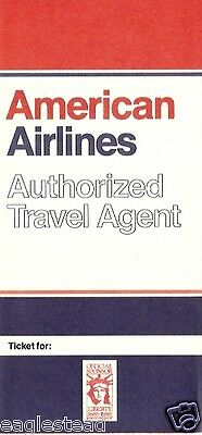 Ticket Jacket - American - Authorized Travel Agent - 1984 (TJ465)