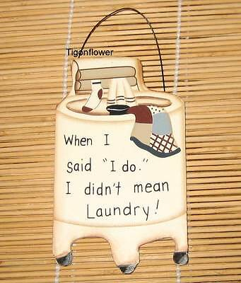 """5x8.5"""" Country Primitive Decor Wood Sign Cut Out LAUNDRY ROOM"""