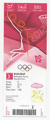 Orig.Ticket    Olympische Spiele LONDON 2012 / BASKETBALL USA - CANADA  1/4 F. !