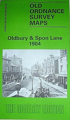 Old Ordnance Survey Maps Oldbury & Spon Lane 1904  Staffordshire Godfrey Edition