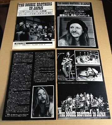 1976 The Doobie Brothers 8pg 12 photo in JAPAN mag article  / clippings cuttings