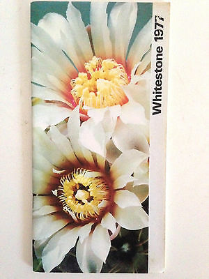 WHITESTONE 1977 Roy Mottram cactus seeds & plants catalog ! book nursery journal