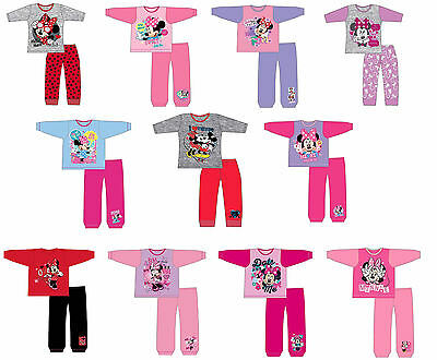 GIRLS KIDS CHILDREN DISNEY MINNIE MOUSE PYJAMAS NIGHTWEAR PJS Age 12-18m 2-13 Yr