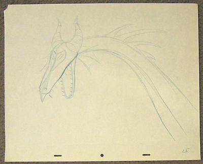 Sleeping Beauty - Maleficent as Dragon - Original Drawing