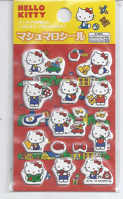 Sanrio Hello Kitty Stickers Puffy Red 1094