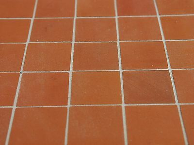 100 Dolls House Red REAL BRICK Floor Blocks (100 sq ins)