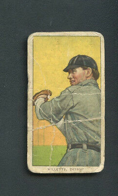 1909 -1911 T206 Ed Willetts Polar Back Detroit RARE Vintage Tobacco Card