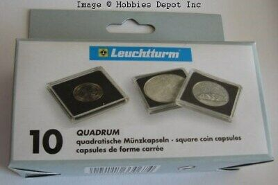 Pack 10 Lighthouse Quadrum 39mm Square Coin Capsules US 1oz Silver Round Holders