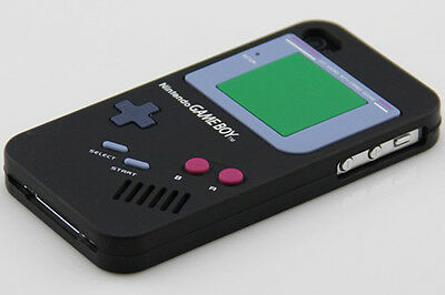 New Skin Gameboy Soft Silicone Case Cover For iPhone4 4G Black