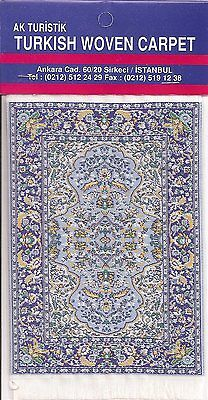Imported Miniature Turkish Woven Carpet -Blue & Yellow