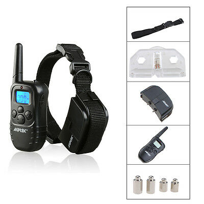 2014 LCD 100LV Level Electric SHOCK&VIBRA REMOTE PET DOG SAFE TRAINING COLLAR