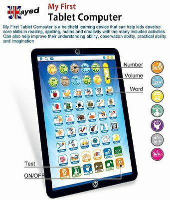 My First Computer Tablet Childrens Educational Learning Game Numbers & Letters