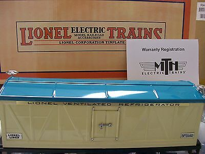 Lionel Corporation item 11-30076  Ivory & Blue  514R  Refrigerator Car MTH * NEW