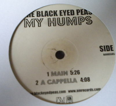 "Black Eyed Peas My Humps 12"" A&M Records 2005"