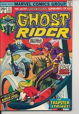 Ghost Rider #13 Very Fine Minus VF- (7.5) Marvel Comics (1975)