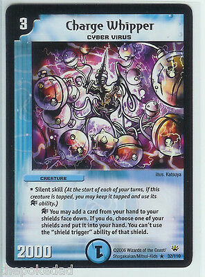 DUEL MASTERS TCG MINT Rare Silent Skill Creature #32/110 CHARGE WHIPPER - DM-10