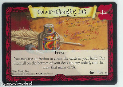 HARRY POTTER TCG Mint RARE Item #4/80 COLOUR-CHANGING INK - DA Diagon Alley