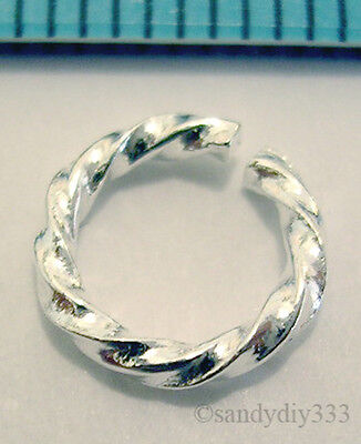 6x STERLING SILVER OPEN TWIST JUMP RING JUMPRING 8mm 1.1mm N048