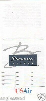 Ticket Jacket - US Air - Business Select - 1995 (TJ869)