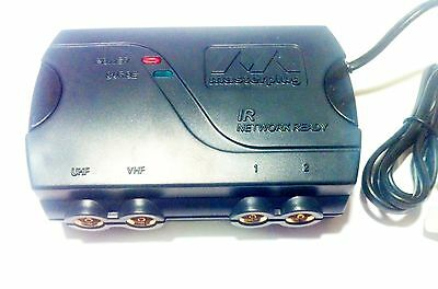 TV Aerial Amplifier 2 Way Booster Mains Powered Ideal Freeview Free Flylead