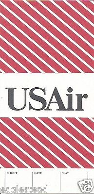 Ticket Jacket - US Air - Red Cross Hatch - 1990 (J1197)