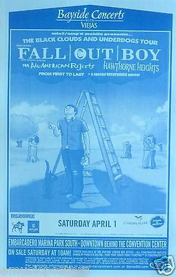 Fall Out Boy / All-American Rejects 2006 San Diego Concert Tour Poster