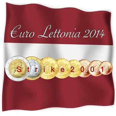 NEW!!! Euro LETTONIA 2014 - 8 PZ FDC in Blister -