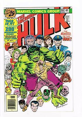 Hulk # 200  The Monster or the Man ?  Anniversary # grade 9.0 scarce hot book !!