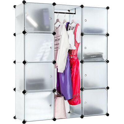 Steckregal Schrank Regal Kleiderschrank Garderobe Standregal Bad transparent