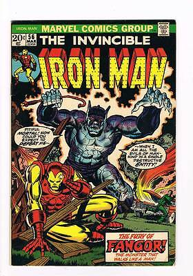 Iron Man # 56  Starlin  Thanos saga Fangor  grade 6.5 movie scarce hot book !!