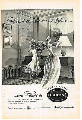 Collectibles Other Breweriana Publicite Advertising 024 1955 Cidena Lingerie Nuisette