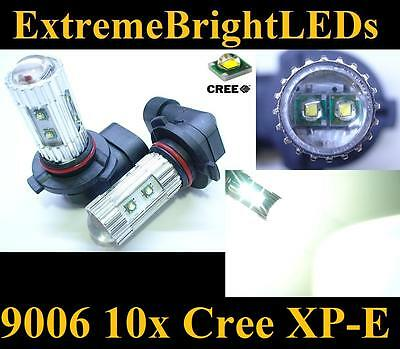TWO Xenon HID WHITE 50W High Power 10x Cree XP-E 9006 9012 HB4 Fog Lights bulbs