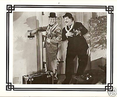 LAUREL & HARDY CALENDAR 12 Vintage Rare Movie Still Photos FAN CLUB Edition 1984