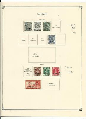 Bahrain 1933 to 1972 Collection on Scott International Pages. SCV $156