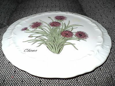 """""""Chives"""" Decorative Spoon Rest China Plate"""