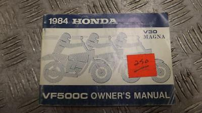 Honda VF500C VF500 C V30 Magna 1984 Owners Manual Book