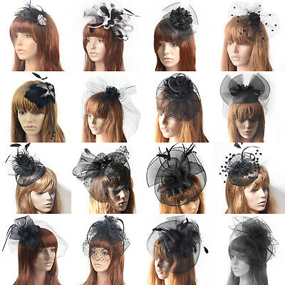Lady Hair Clips Wedding Bridal Handmade Fascinator Flower Veils Proms Accessory