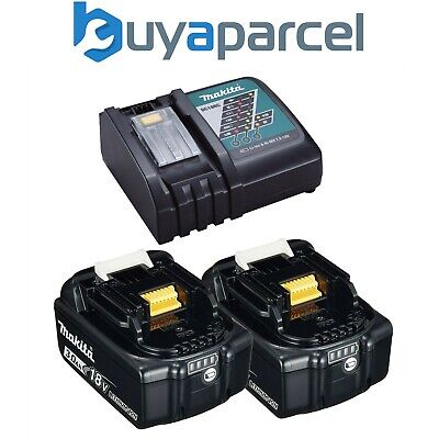 2 x Genuine Makita 18V 3.0Ah LXT Lithium Battery BL1830 + DC18RC Fast Charger