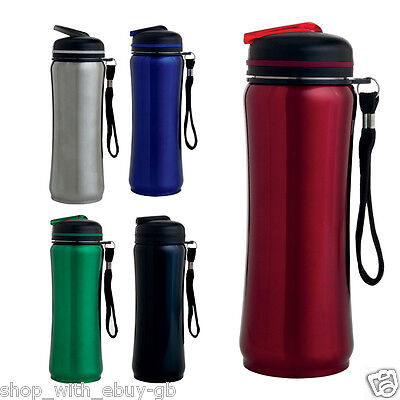 Stainless Steel Drinking Water Bottle / Flask - Sports Drink Gym Running Cycling