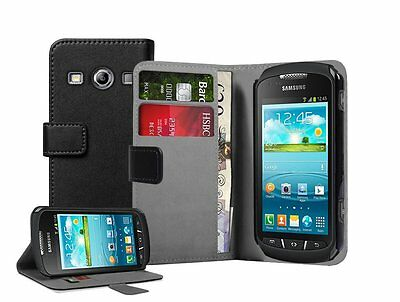 WALLET Leather Flip Case Phone Cover for Samsung Galaxy Xcover 2 GT-S7710 S7710L