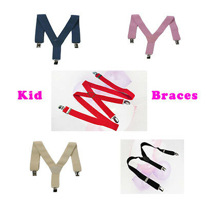 Kids Chidrens Braces Suspenders Boys Girls Junior Child Y Straps Trouser Elastic