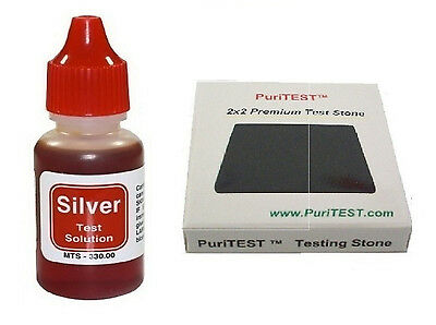 New Silver Testing Kit Silver Acid Test Liquid with Stone