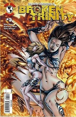 Broken Trinity #3 ~ exclusive variant ebas cover  ~  Witchblade ~  Darkness