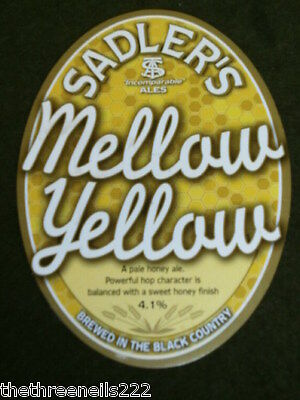 Beer Pump Clip - Sadler's Mellow Yellow