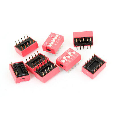 8 Pieces 2.54mm Pitch 5 Position 10 Pins Slide Type DIP Switches Red