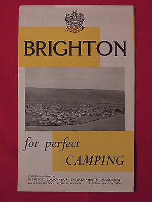 1960s Brighton For Perfect Camping Brochure With Prices England
