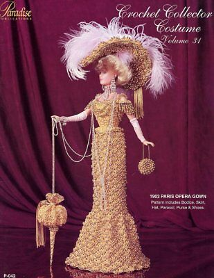 1870 OPERA GOWN for Barbie Dolls Paradise #42 Crochet PATTERN ...